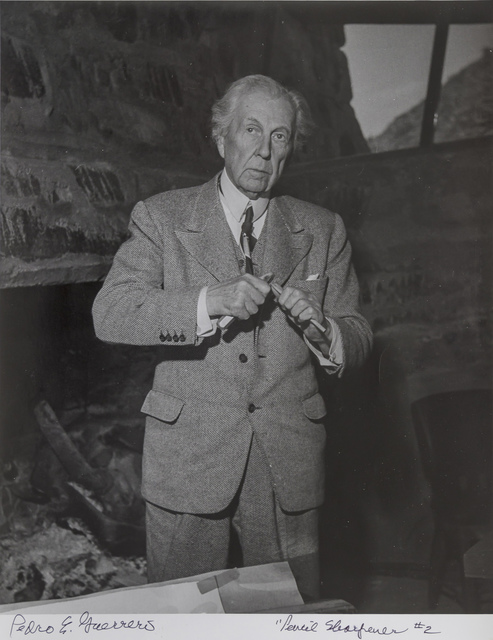 , 'Frank Lloyd Wright Sharpening a Pencil, #2,' 1947, Edward Cella Art and Architecture