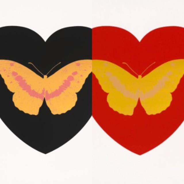 Damien Hirst, 'I Love You (Pair)', 2015, Print, Screenprints on paper, edition of 14, Robin Rile Fine Art