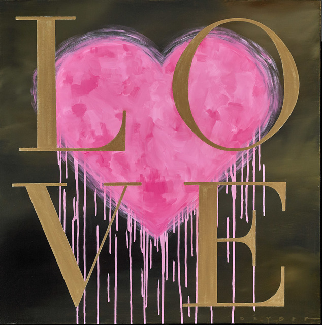, 'LOVE - Pink & Gold,' 2016, Martin Lawrence Galleries