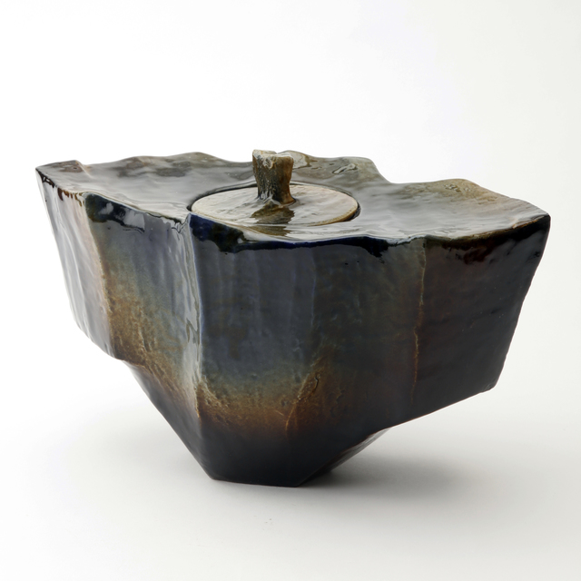 Ohi Toshio, 'Sonsu (Reverence), Amber and Black Ohi Ceremonial Vessel', 2012, Onishi Gallery