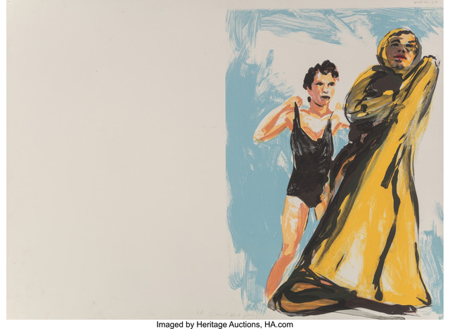 Eric Fischl, 'Annie, Gwen, Lilly, Pam, and Tulip (woman in black, woman in robe)', 1986, Print, Lithograph in colors on Rives BFK paper, Heritage Auctions
