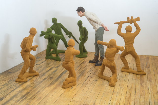 , 'Green and Tan Army Men,' 2015, Bellevue Arts Museum
