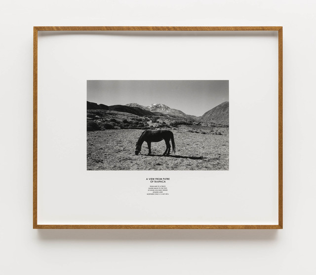 , 'A view from Putre of Taapaca. From and to a truck guided walks to the tops of seven volcanic ridges Aymara Land. Northern Chile,' 2016, Bergamin & Gomide