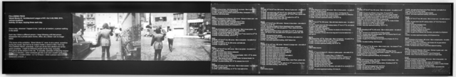 "Vito Acconci, 'Following piece ""Street Works IV""', 1969, Galleria Fumagalli"