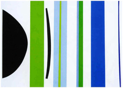 , 'Blue Green Verticals ,' 2001, The Missing Plinth