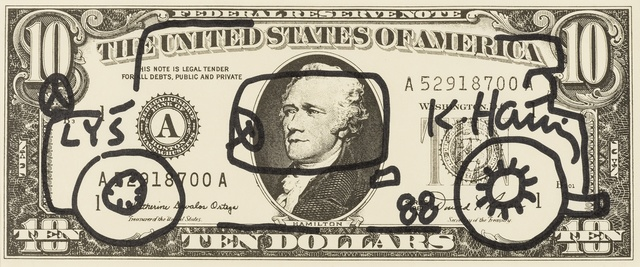 Keith Haring, 'Dollar Bill Drawing (Car)', 1988, Forum Auctions