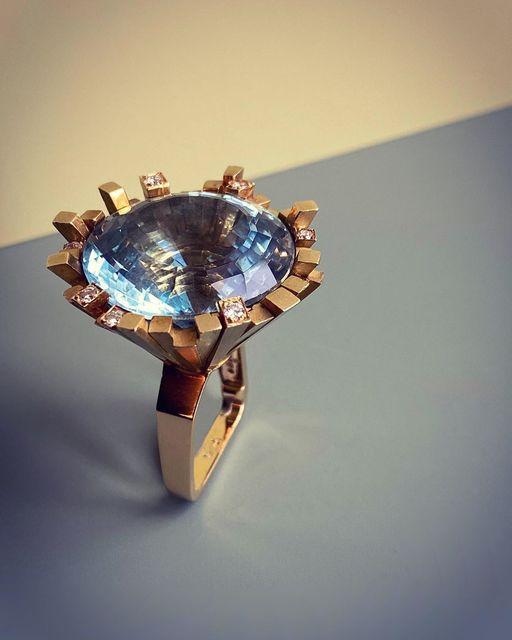 , 'Blue Topaz Ring,' 1969, Grima