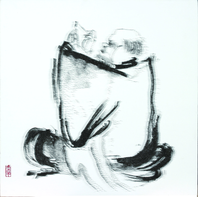 , 'Imitating Old Monk Patching by Shi Ke, Southern Song Dynasty, 13th century,' 2013, Tina Keng Gallery