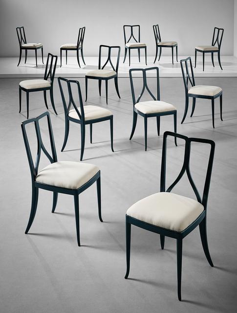 Guglielmo Ulrich, 'Set of twelve dining chairs', ca. 1940, Phillips