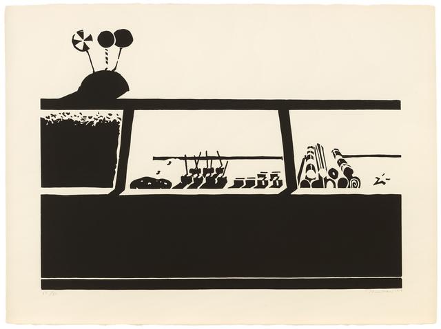 Wayne Thiebaud, 'Candy Counter, State I', 1970, Paul Thiebaud Gallery