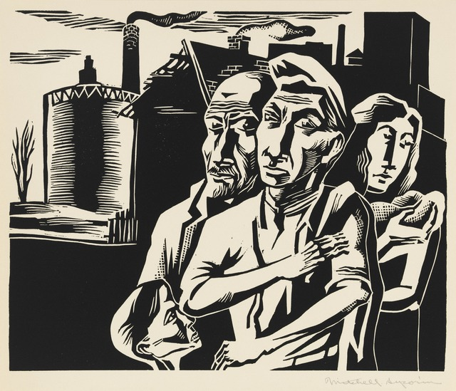 , 'Workers Family, from the portfolio A Gift to Biro-Bidjan,' 1937, Grey Art Gallery