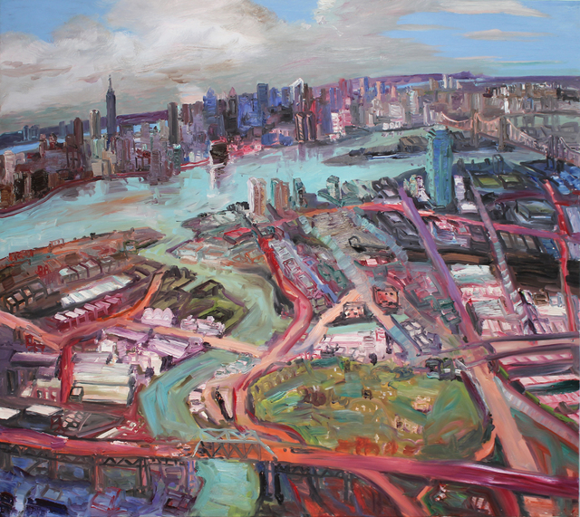 John Hartman, 'The East River and BQE', 2008, Galerie Louis Gendre
