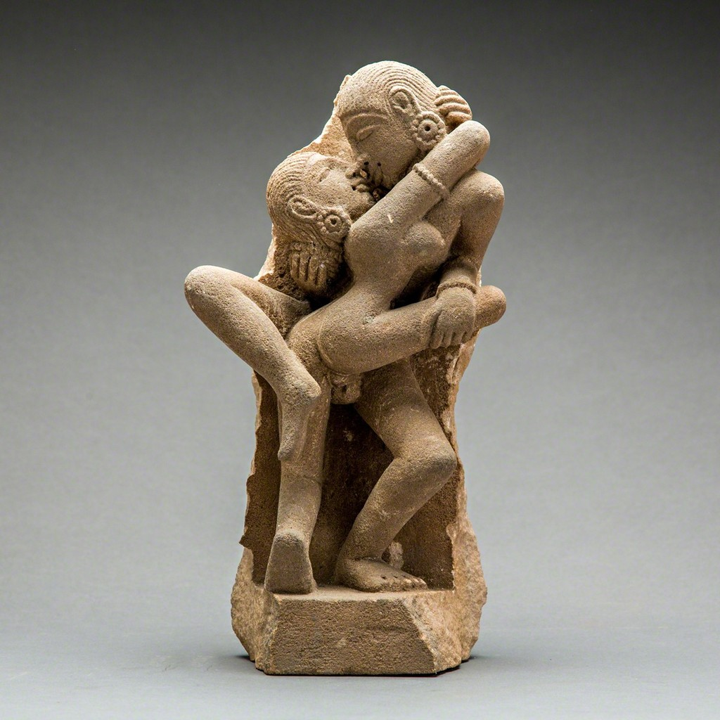 Unknown Asian  Erotic Sandstone Sculpture Of A Couple -5077
