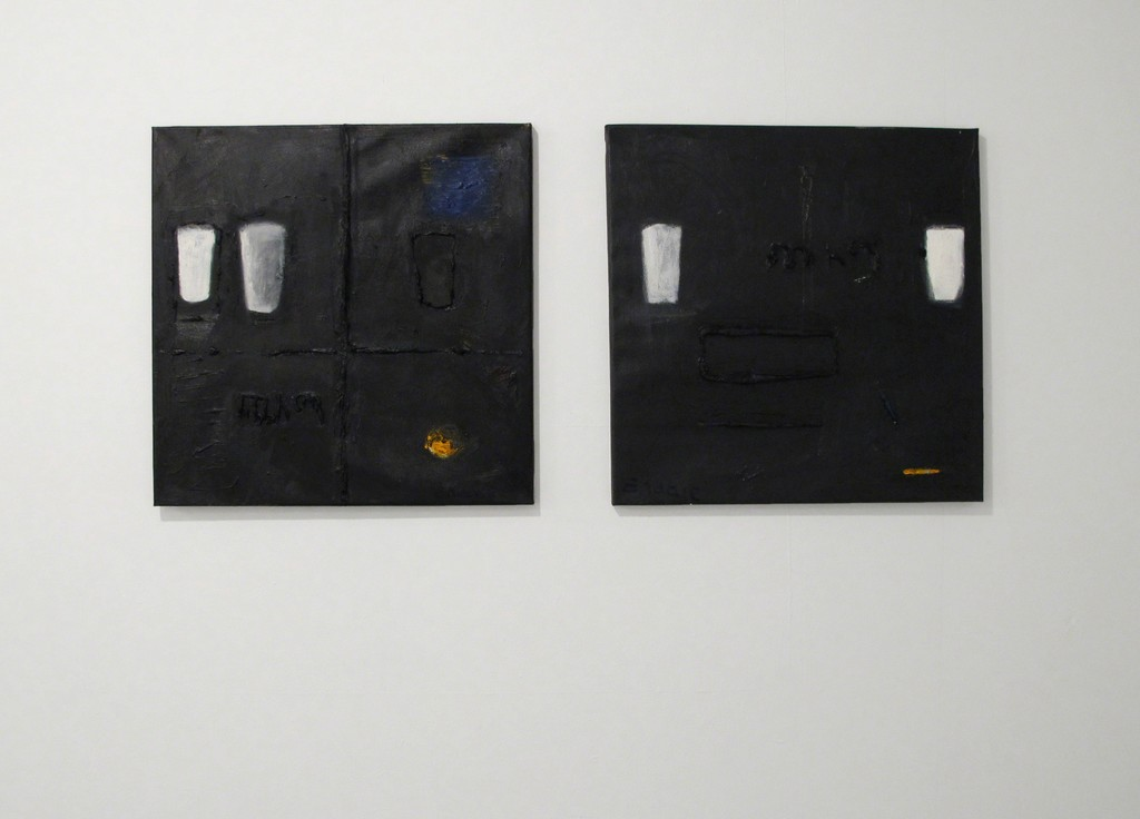 Endale Desalegn, Milk and Darkness 9 (Witet/Chiema 9) (left) and Milk and Darkness 7 (Witet/Chiema 7) (right), 2014, 50 x 50 cm (each)