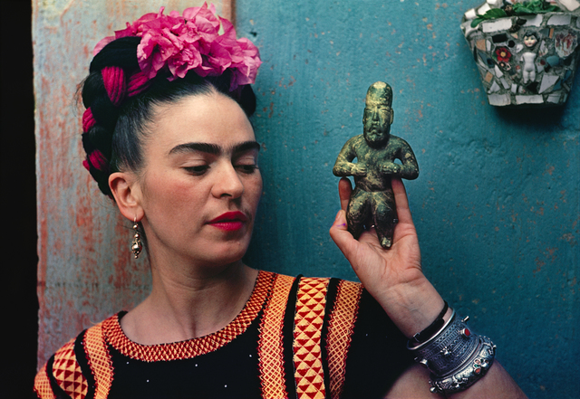 , 'Frida Kahlo with Olmec figurine,' 1939, Victoria and Albert Museum (V&A)
