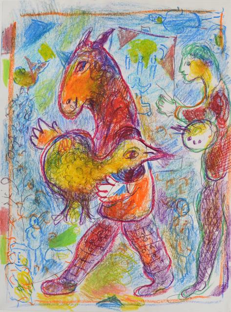 , 'Homme cheval avec coq jaune,' ca. 1978, Beck & Eggeling