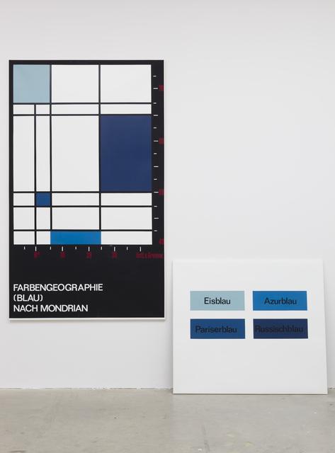 , 'Farbengeografie (Blau) nach Mondrian, unique,' 1973/74, Vilma Gold