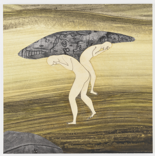 Hans Lemmen, 'Whale', 2016, Drawing, Collage or other Work on Paper, Mixed on paperboard, Galería Artizar