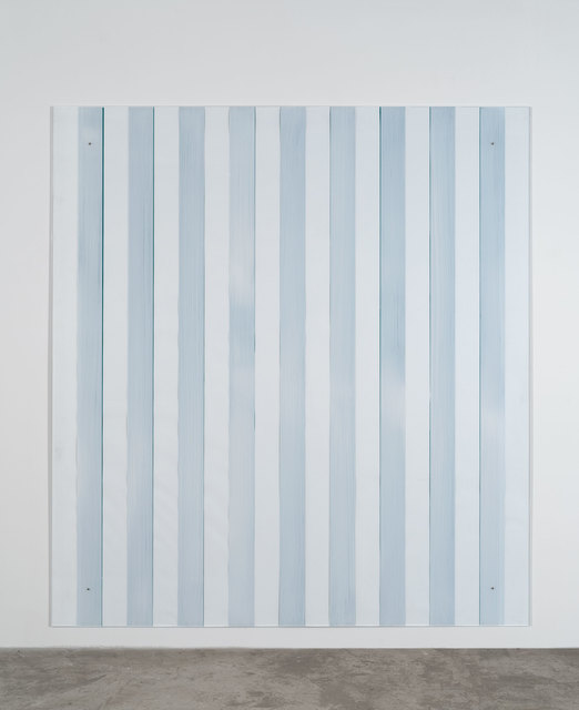 , 'Painting on/under Plexiglas over canvas, new series Made in USA, green,' 2012-2016, Bortolami