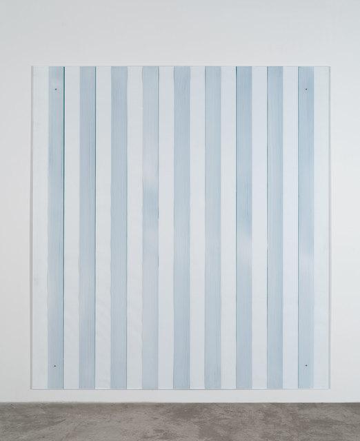 Daniel Buren, 'Painting on/under Plexiglas over canvas, new series Made in USA, green', 2012-2016, Bortolami