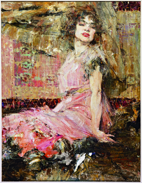 , 'Lady in Pink (Portrait of Natalia Podbelskaya),' 1912, Frye Art Museum