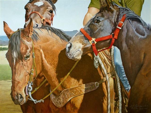 John Farnsworth, 'Auction Horses', 1979, Larsen Gallery