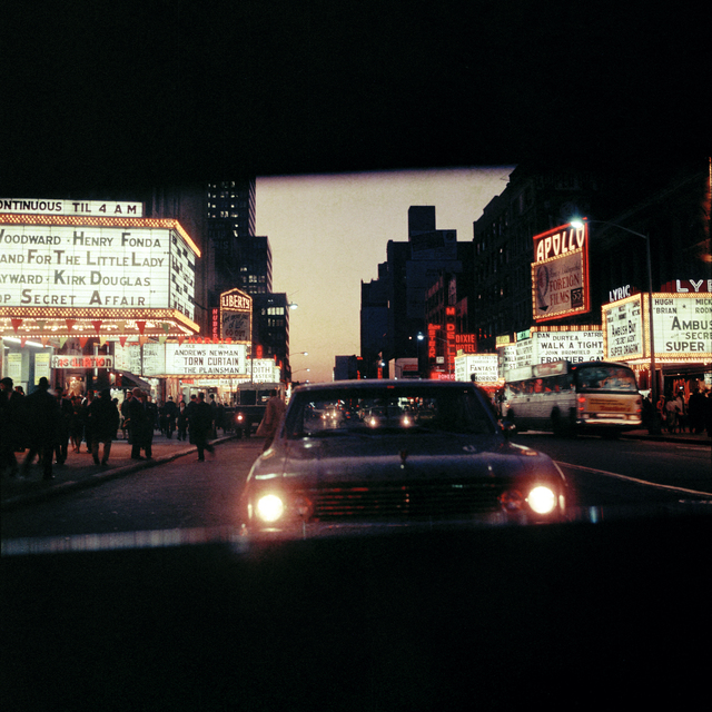 , '42nd Street at night, New York,' 1966, David Hill Gallery
