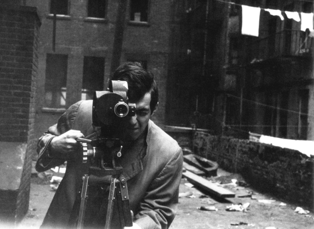 , 'Stanley Kubrick with his 35mm Eyemo camera on the set of Killer's Kiss ,' 1955, Contemporary Jewish Museum
