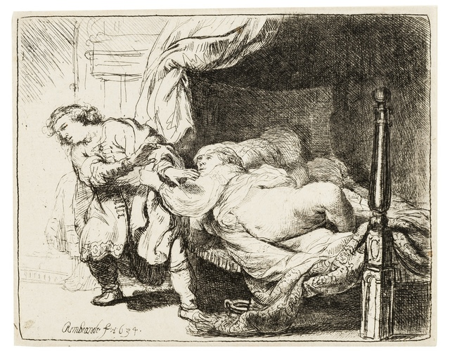 Rembrandt van Rijn, 'Joseph and Potiphar's Wife', 1634, Print, Etching, Forum Auctions