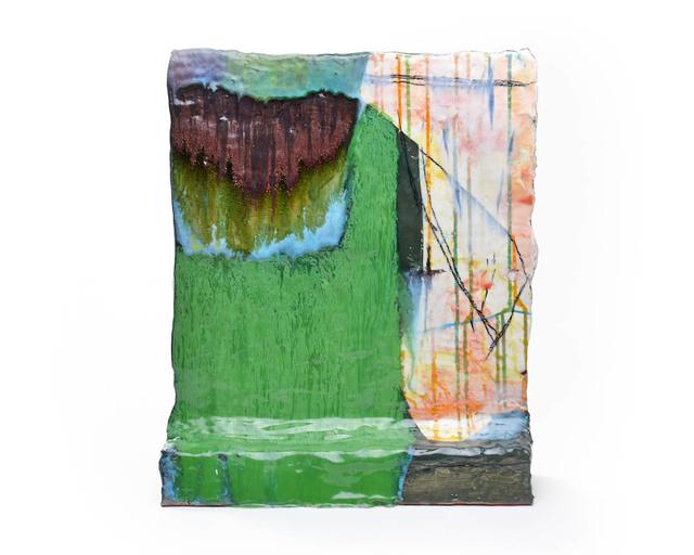 Lauren Mabry, 'Wavy Green Painting', 2019, Ferrin Contemporary