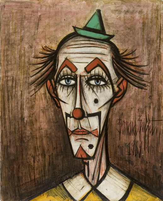 Astounding Bernard Buffet Clown Au Petit Chapeau Vert 1989 Available Download Free Architecture Designs Scobabritishbridgeorg