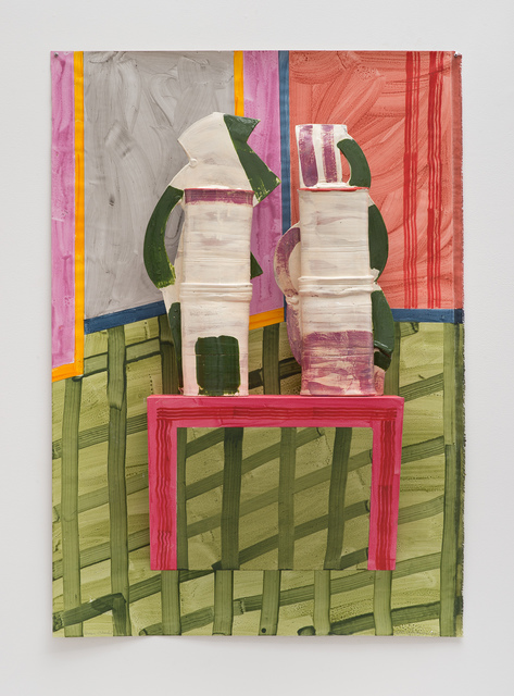 , 'Green Checks,' 2014, David Kordansky Gallery