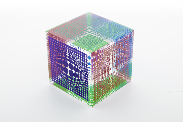 Victor Vasarely, 'Oltar Zoelo multi-wave cube', 1970, Sculpture, Acrylic, Modern Artifact