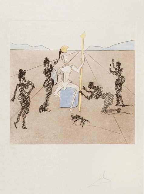 Salvador Dalí, 'The Golden Helmet of Mandrino (Field 80-1.F)', 1981, Print, Etching with aquatint printed in colours, Forum Auctions