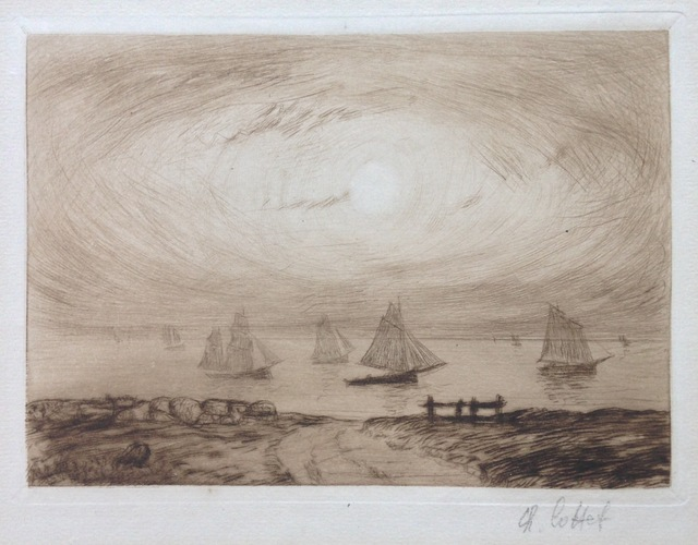 Charles Cottet, 'Barques au clair de lune', 1906, Hans den Hollander Prints
