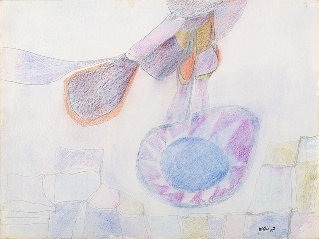 Achille Perilli, 'Untitled', 1967, Mixed Media, Mixed media on paper, Il Ponte