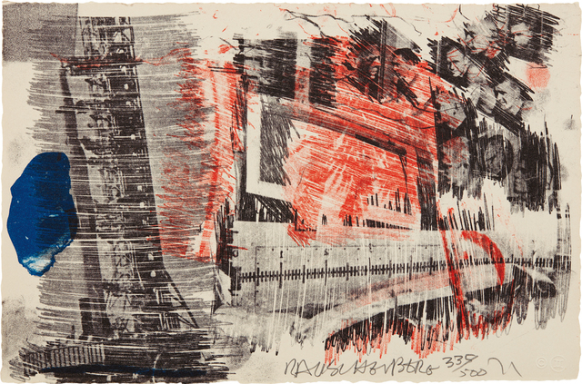 Robert Rauschenberg, 'Sub-Total, from Stoned Moon Series', 1971, Print, Lithograph in colors, on Rives BFK paper, the full sheet, Phillips