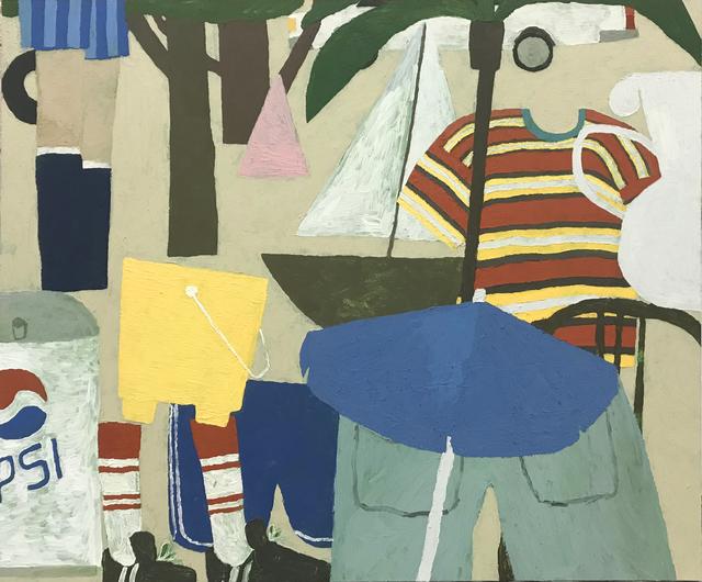 , 'Pepsi, Tire-swing, Sailboat, Car (close-up),' 2018, Steve Turner