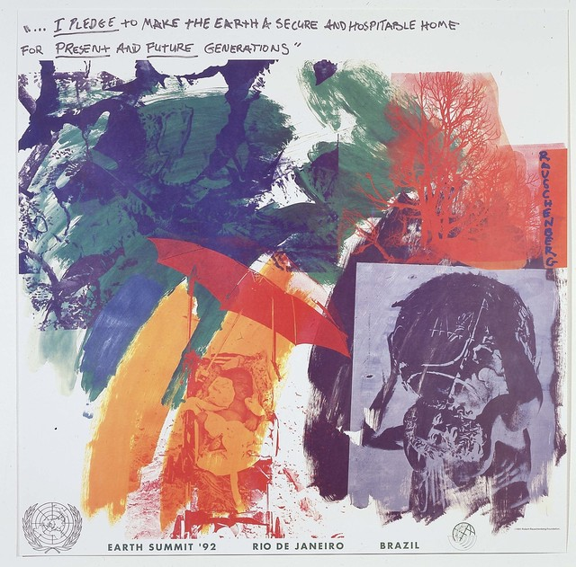 Robert Rauschenberg, 'Last Turn—Your Turn [print for Earth Summit '92 the United Nations Conference on Environment and Development, Rio de Janeiro, Brazil]', 1991, Robert Rauschenberg Foundation