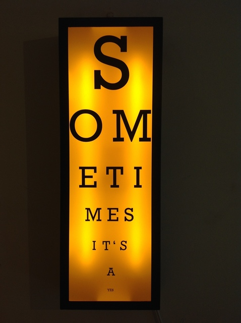 Zoe Grace, 'Sometimes It's a Yes- Gold', 2016, Installation, Lightbox, Signed Limited Edition of 5, Rhodes