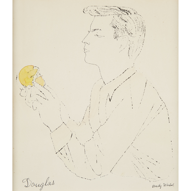 Andy Warhol, 'Portrait Of Douglas With Orange', Executed in 1954., Freeman's