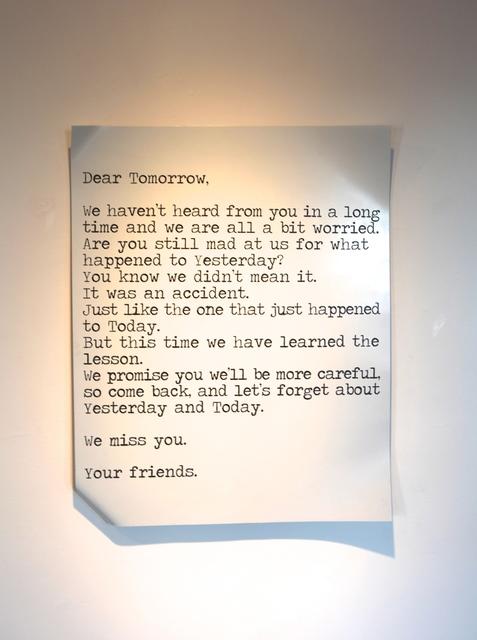 Blue and Joy, 'Dear Tomorrow', 2015, Galleria Ca' d'Oro