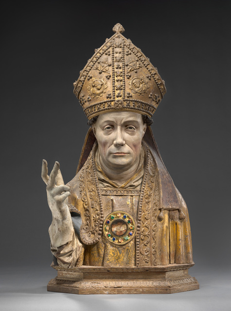 , 'Reliquary bust of a holy bishop, Brussels,' ca. 1520, Bode Museum