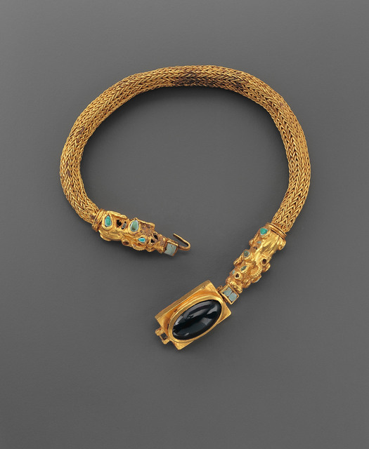 , 'LARGE NECKLACE ADORNED WITH SEMI-PRECIOUS STONES AND ANIMALS,' 1st century B.C.-1st century A.D., Phoenix Ancient Art