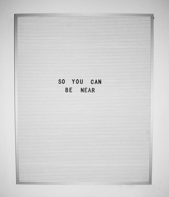 , 'Near,' 2016, Myla Dalbesio