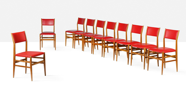 Gio Ponti, 'Set of 10 Leggera chairs', 1952, Aguttes