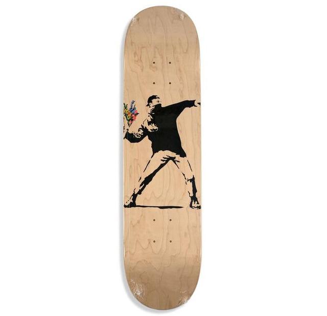 Banksy | Brandalism Flower Thrower skateboard deck (ca  2017) | Available  for Sale | Artsy