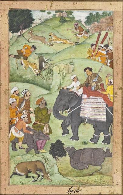 Muhammad Nasir al-Munshi | Prince Salim at a Hunt, Folio