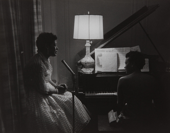 Billie Holiday and Hazel Scott at a Party