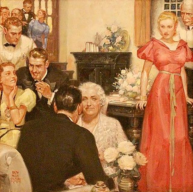 Ralph Pallen Colemen, 'Party Scene', 1937, The Illustrated Gallery